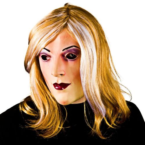 Adult Unisex Dodgy Drag Queen Mask Hair Masquerade for Disguise Fancy Dress